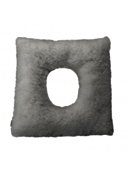 Подушка от пролежней мягкая квадратная с отверстием, серая