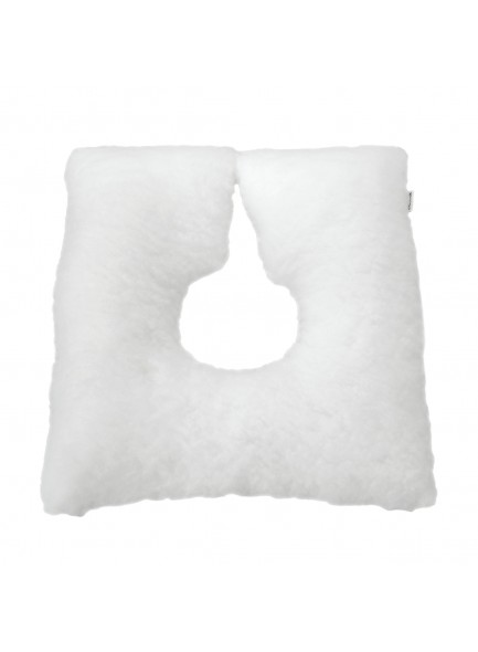 Подушка от пролежней мягкая квадратная подковообразная с отверстием, белая