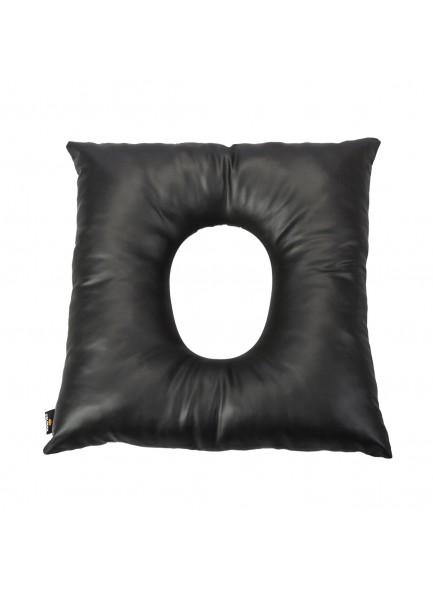 Подушка от пролежней мягкая квадратная с отверстием, черная